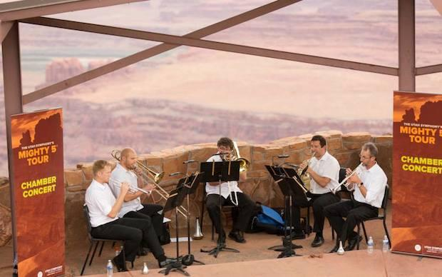 Utah Symphony brass at Dead Horse Point State Park