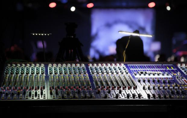 Mixing console in a theater