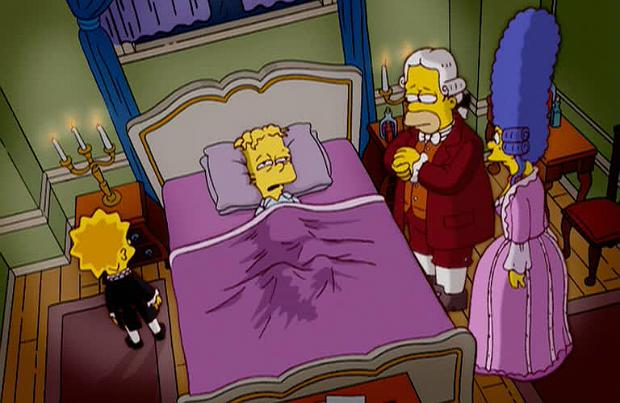 Bart Simpson as Mozart in 'Margical History Tour' on The Simpsons