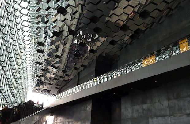 Interior of Harpa Concert Hall in Reykjavik, Iceland