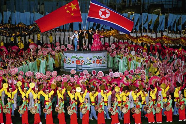 North Korea and its protector: China. From North Korea: Anonymous Country by Julia Leeb.