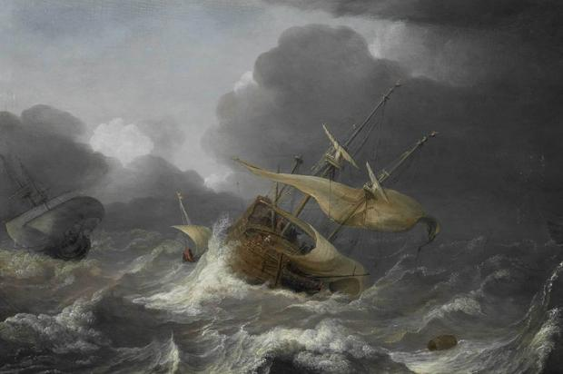 Jan Porcellis' Dutch Ships in a Gale