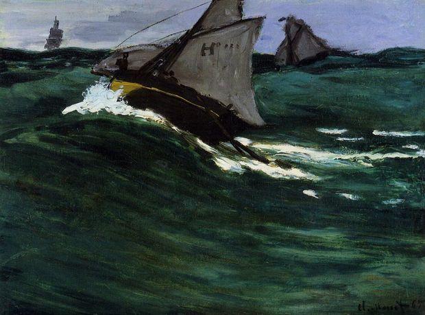 Claude Monet's The Green Wave, circa 1866–67