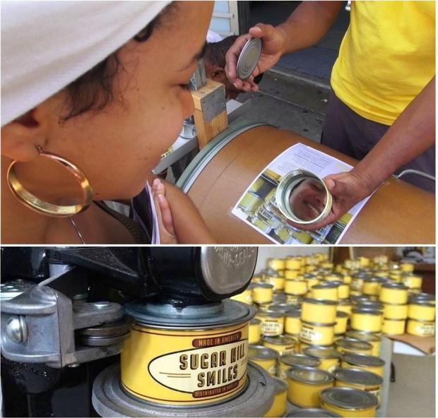 Sugar Hill canned Smiles by Nari Ward