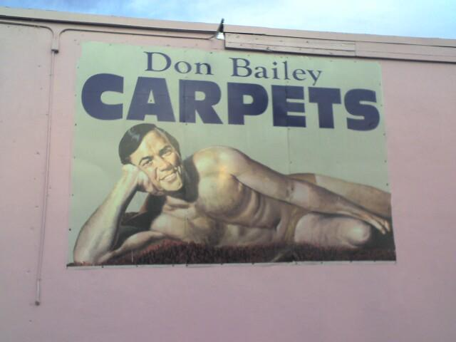 The Man Behind The Billboard: Floridau0027s Own Naked Carpet Guy   The Takeaway    WNYC