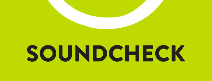 Soundcheck logo with title