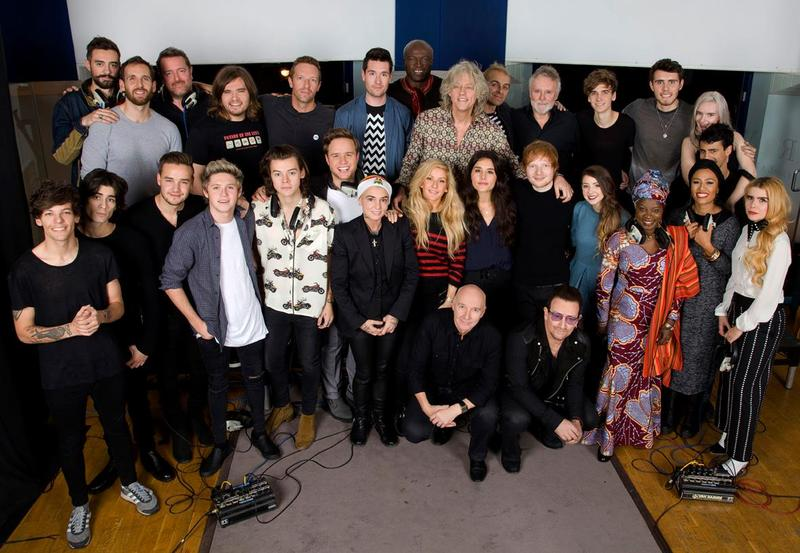 The Band Aid 30 performers.
