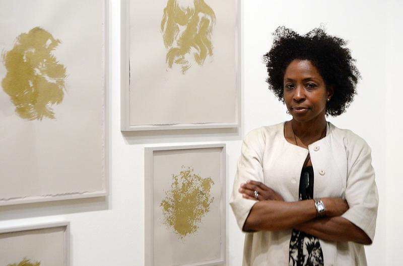 Portrait taken on June 3, 2013, of Lorna Simpson, US photographer and videographer, who is exhibiting her work until September 1, 2013 at the Jeu de Paume in Paris.