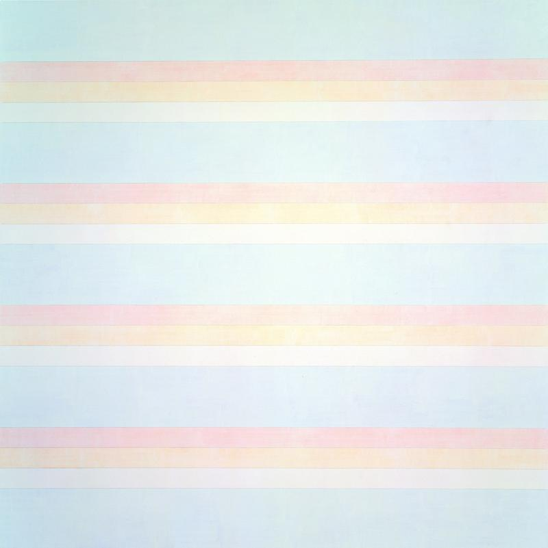 """A new retropsective of the artist Agnes Martin is now on view at the Guggenheim Museum, including this work, """"Untitled #2."""""""