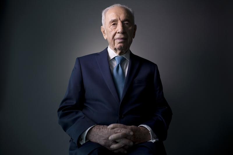 Feb. 8, 2016: Israel's former President Shimon Peres poses for a portrait at the Peres Center for Peace in Jaffa, Israel.