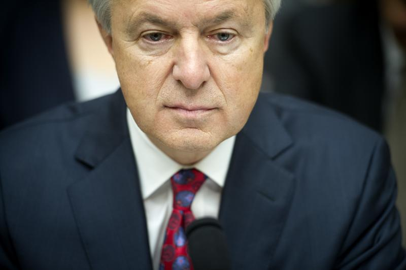 In this Thursday, Sept. 29, 2016, file photo, Wells Fargo CEO John Stumpf testifies on Capitol Hill in Washington.