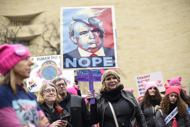 Participants attend the Women's March on Washington on Independence Ave. on Saturday, Jan. 21, 2017 in Washington.