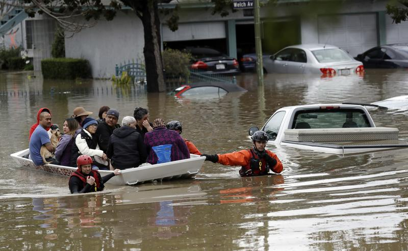 Flooding in San Jose, California broke records and forced thousands of residents to evacuate