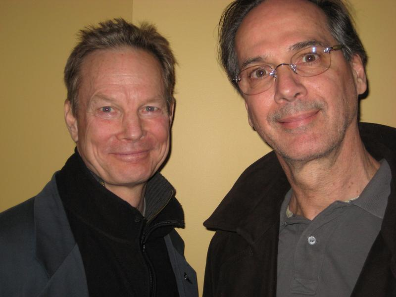"Bill Irwin and David Shiner, the stars of ""Old Hat,"" in the WNYC studios"