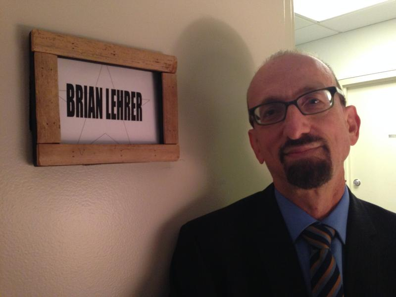 Brian Lehrer in the Colbert Report Greenroom