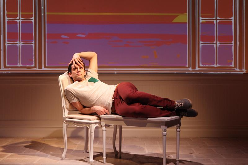 Michael Urie in <em>Buyer & Cellar</em> at the Barrow Street Theatre.