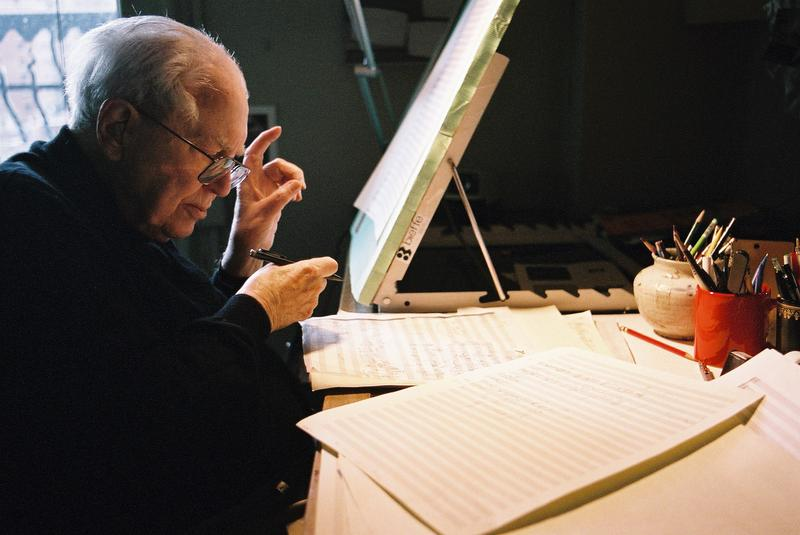 "Composing ""Soundings"" at his home in New York City"