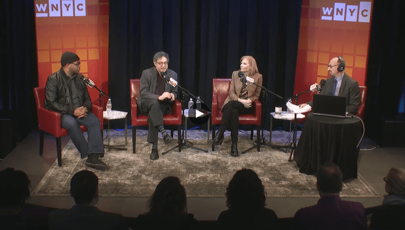 Jamil Smith, Ana Marie Cox, Fred Kaplan and Brian Lehrer in the Greene Space on February 21, 2016.