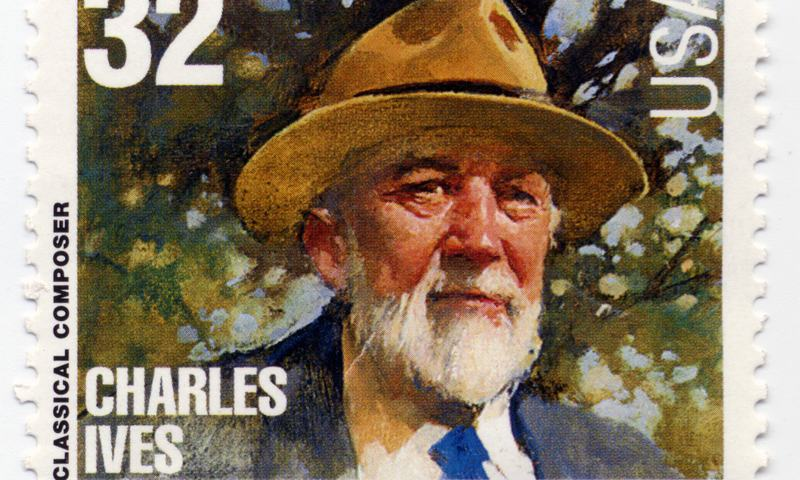 Stamp from 1997 of classical composer Charles Ives