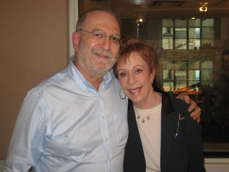 Leonard Lopate and the legendary Carol Burnett in the WNYC studios