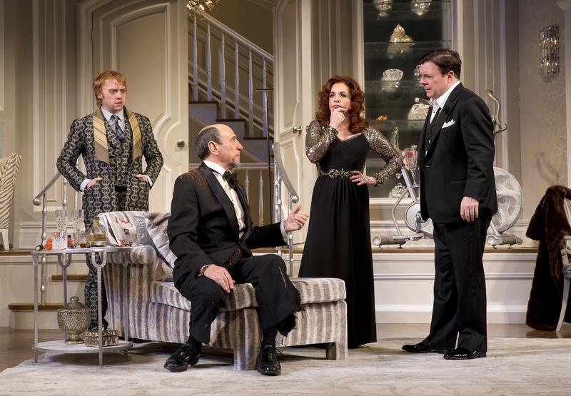 Rupert Grint, F. Murray Abraham, Stockard Channing and Nathan Lane in a scene from 'It's Only A Play.'