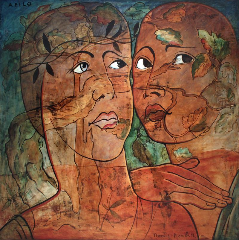 "One of Francis Picabia's Transparencies ""Aello"" (193) where he superimposed works on top of one another."