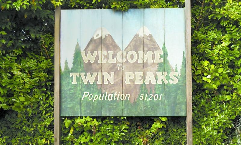 "The welcome sign from ""Twin Peaks"""