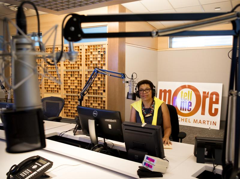 "Host Michel Martin poses in the <em>Tell Me More</em> studio at NPR headquarters in Washington, D.C. Although the show is ending, Michel says there are ""many stories yet to tell."""