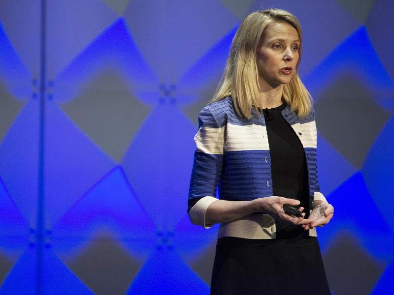 Yahoo President and CEO Marissa Mayer delivers a keynote during the Yahoo Mobile Developers Conference on Feb. 18, in San Francisco.
