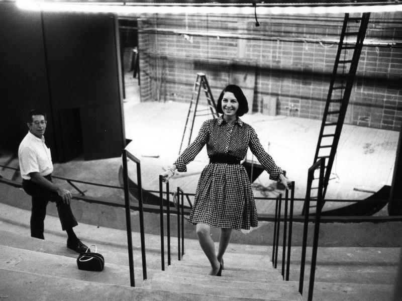 Zelda Fichandler co-founded Arena Stage in Washington, D.C., with her husband, Tom Fichandler, and drama teacher Edward Mangum. She is seen here with her husband in 1971.