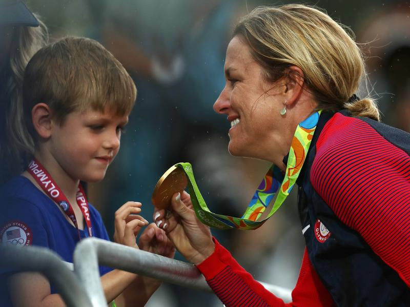"""Time trial champion Kristin Armstrong of the U.S. calls her life as a working mom the """"secret weapon"""" that helped her win Olympic gold Wednesday."""