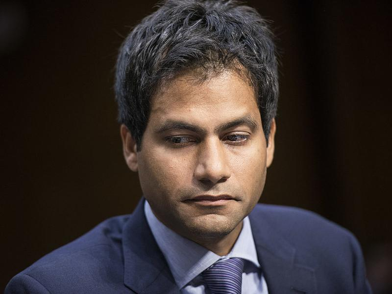 Jameel Jaffer, deputy legal director of the American Civil Liberties Union, listens during a hearing of the Senate Judiciary Committee on Capitol Hill, in July 2013.