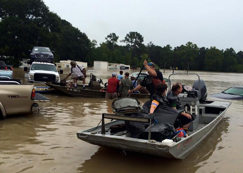"The ""Cajun Navy"" set out to help their neighbors during the floods. (Courtesy Jared Serigné)"