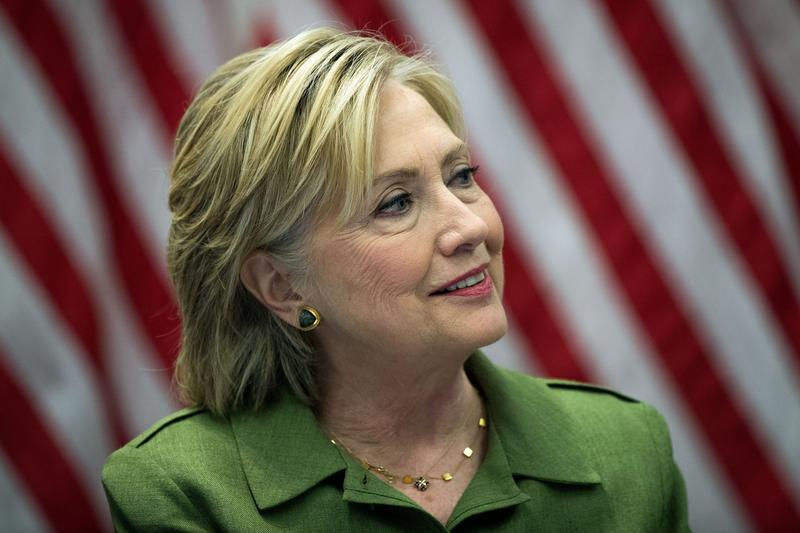 Democratic presidential candidate Hillary Clinton speaks during a meeting with law enforcement officials at the John Jay College of Criminal Justice, Aug. 18, 2016 in New York City. (Drew Angerer/Getty Images