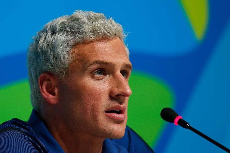 Ryan Lochte of the United States attends a press conference during the Rio Olympics on Aug. 12, 2016 in Rio de Janeiro, Brazil.  (Matt Hazlett/Getty Images)