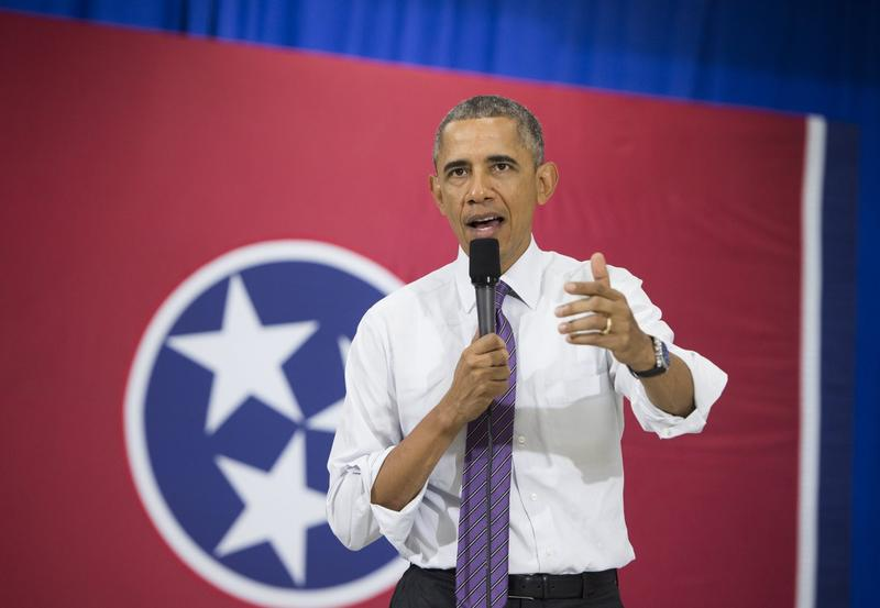 President Barack Obama speaks about the Affordable Care Act in Nashville in July 2015. (Saul Loeb/AFP/Getty Images)