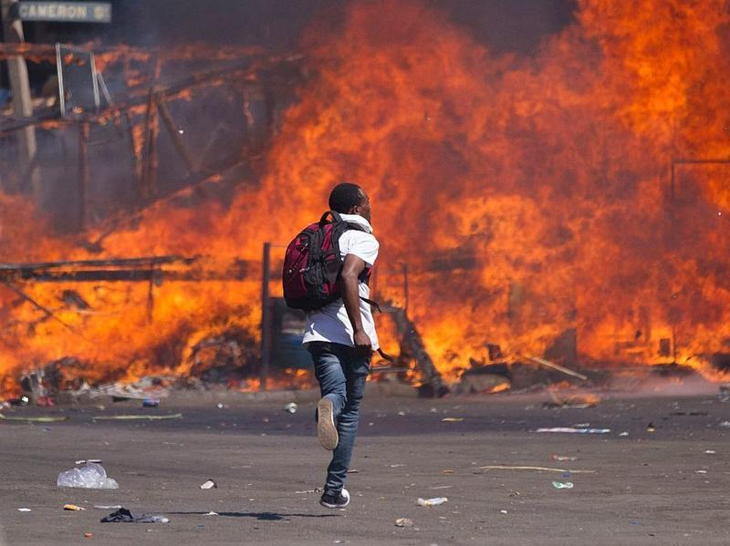 A court-approved protest staged by Zimbabwe's opposition supporters seeking electoral reforms turned violent Friday in Harare when it was broken up by police.