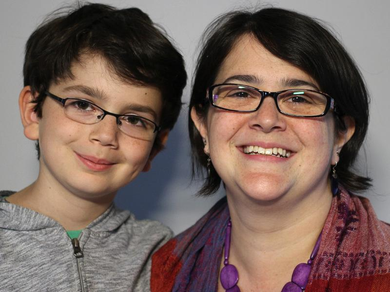 William Chambers, 9, with his mom, Ceceley, on a recent visit with StoryCorps.