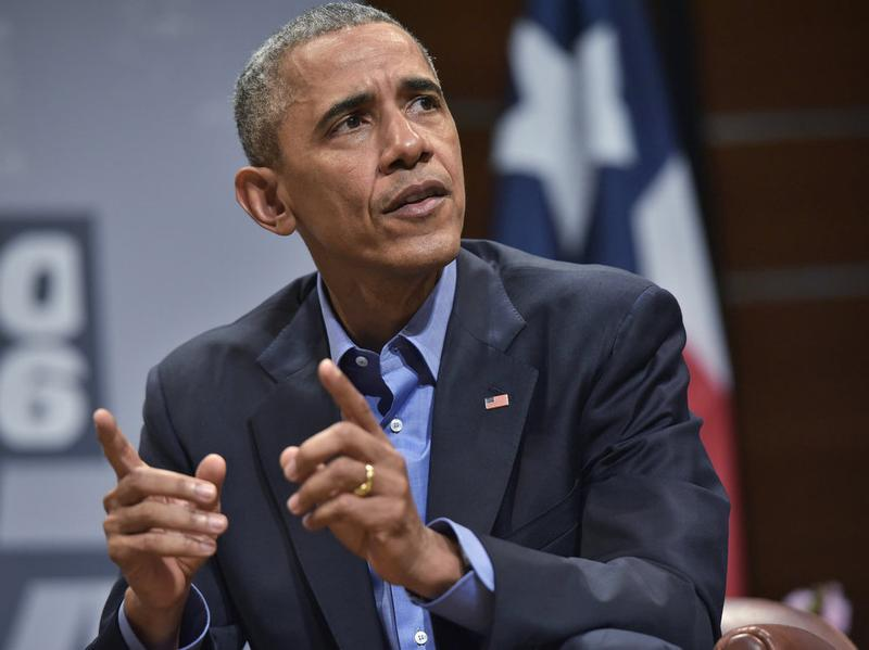 President Obama speaks during the South by Southwest Interactive conference in Austin, Texas, in March.