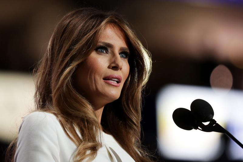 Melania Trump, wife of Republican presidential nominee Donald Trump, delivers a speech on the first day of the Republican National Convention on July 18, 2016 at the Quicken Loans Arena in Cleveland, Ohio. (Chip Somodevilla/Getty Images)