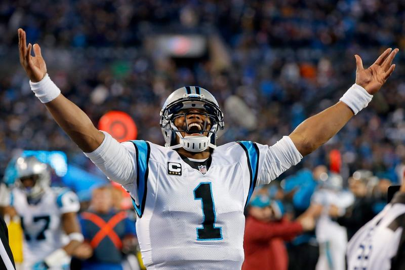 Cam Newton of the Carolina Panthers celebrates a touchdown during the NFC Championship Game at Bank of America Stadium on Jan. 24, 2016 in Charlotte, N.C. (Kevin C. Cox/Getty Images)