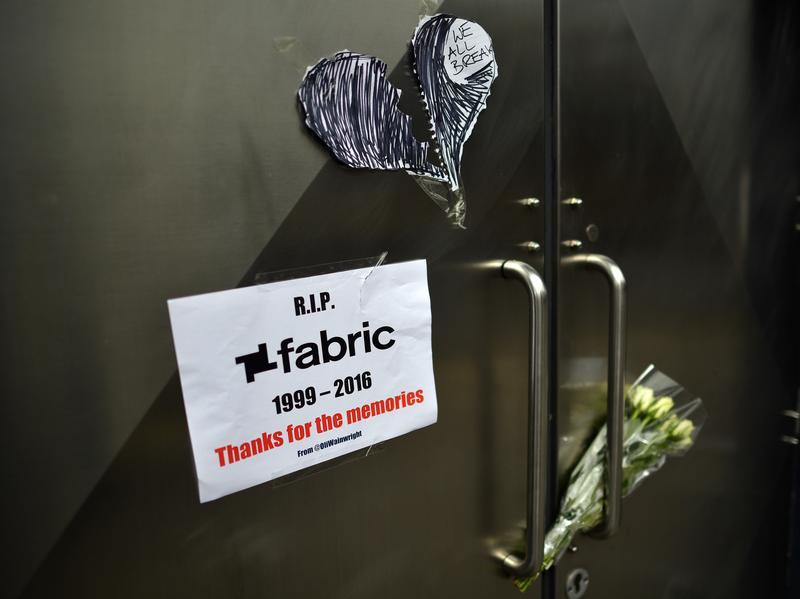 Flowers outside the nightclub fabric in London, after it was closed on Sept. 7.