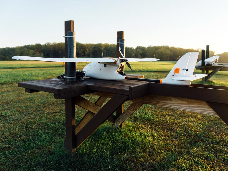 Specimens were flown in the Aero, a fixed-wing aircraft made by 3D Robotics of Berkeley, Calif.