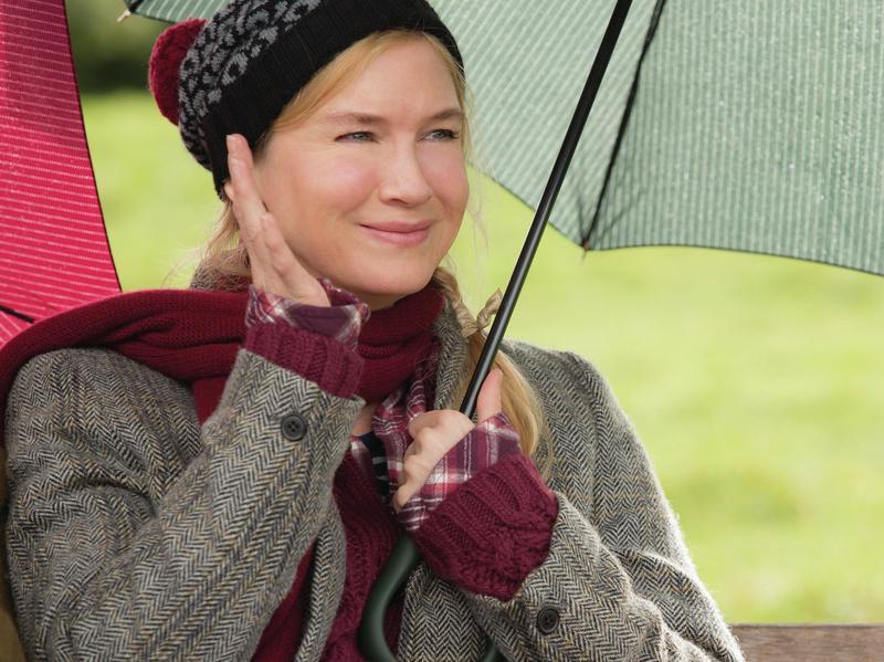 London's Bridget, falling down. Bridget Jones (Renee Zellweger) in <em>Bridget Jones's Baby</em>.