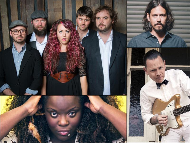 Clockwise from upper left: Front Country, John Paul White, CW Stoneking, Yola Carter