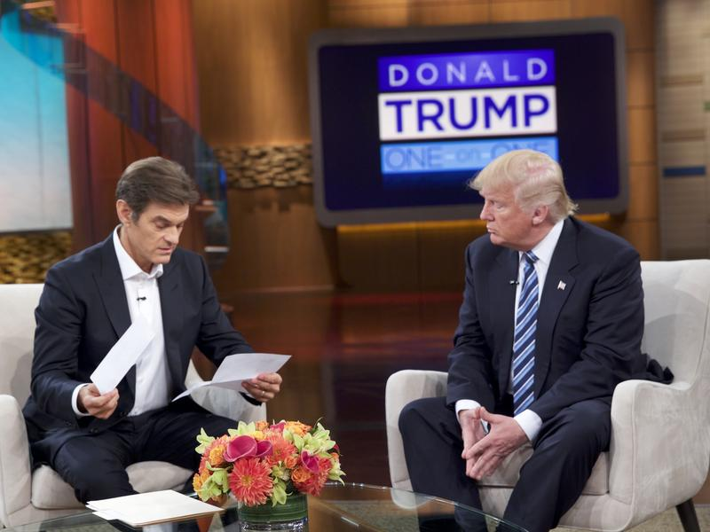 Donald Trump visited the Dr. Oz Show on Thursday to discuss his health and how he tries to stay fit on the campaign trail.