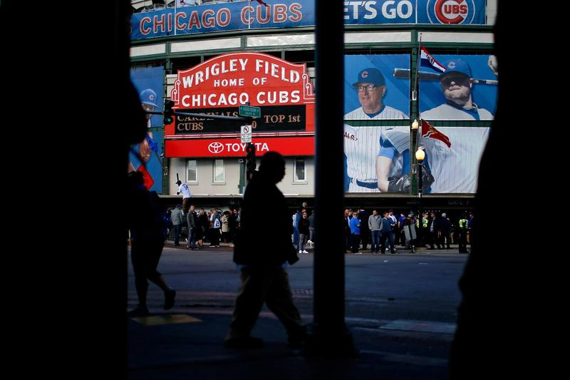 A view of Wrigley Field on Oct. 13, 2015 in Chicago. The Chicago Cubs last night won the division title for the first time since 2008. (Jon Durr/Getty Images)