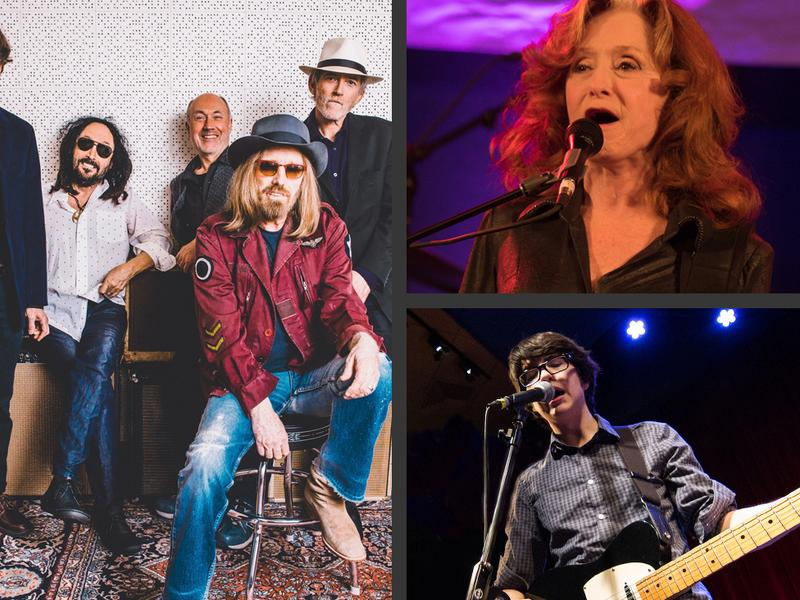 During this encore week, hear sessions with — clockwise from left — Mudcrutch, Bonnie Raitt (photo: Joe Del Tufo/WXPN) and Car Seat Headrest (photo: Jeremy Zimmerman/WXPN).