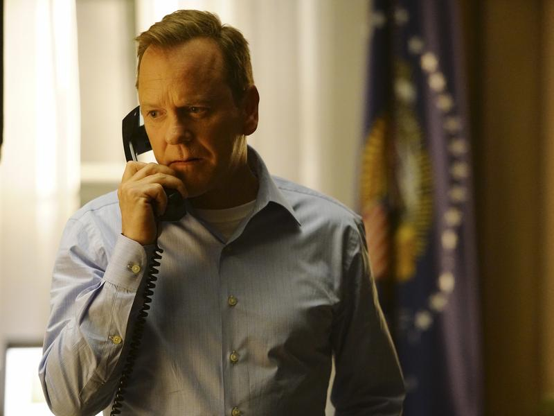 Kiefer Sutherland stars as Tom Kirkman, a lower-level Cabinet member who suddenly becomes president of the United States, in the ABC series <em>Designated Survivor, </em>which premieres Wednesday at 10 p.m. ET.