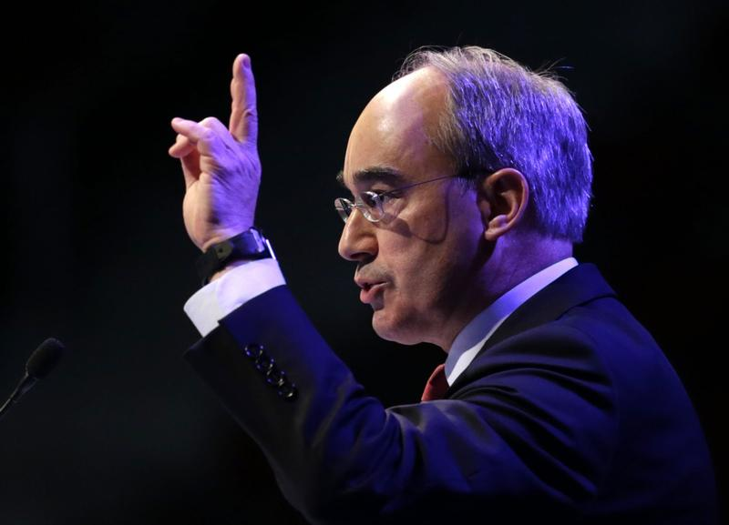 Then-Congressional candidate Bruce Poliquin speaks at the Maine GOP Convention, Saturday, April 26, 2014, in Bangor, Maine. (Robert F. Bukaty/AP)